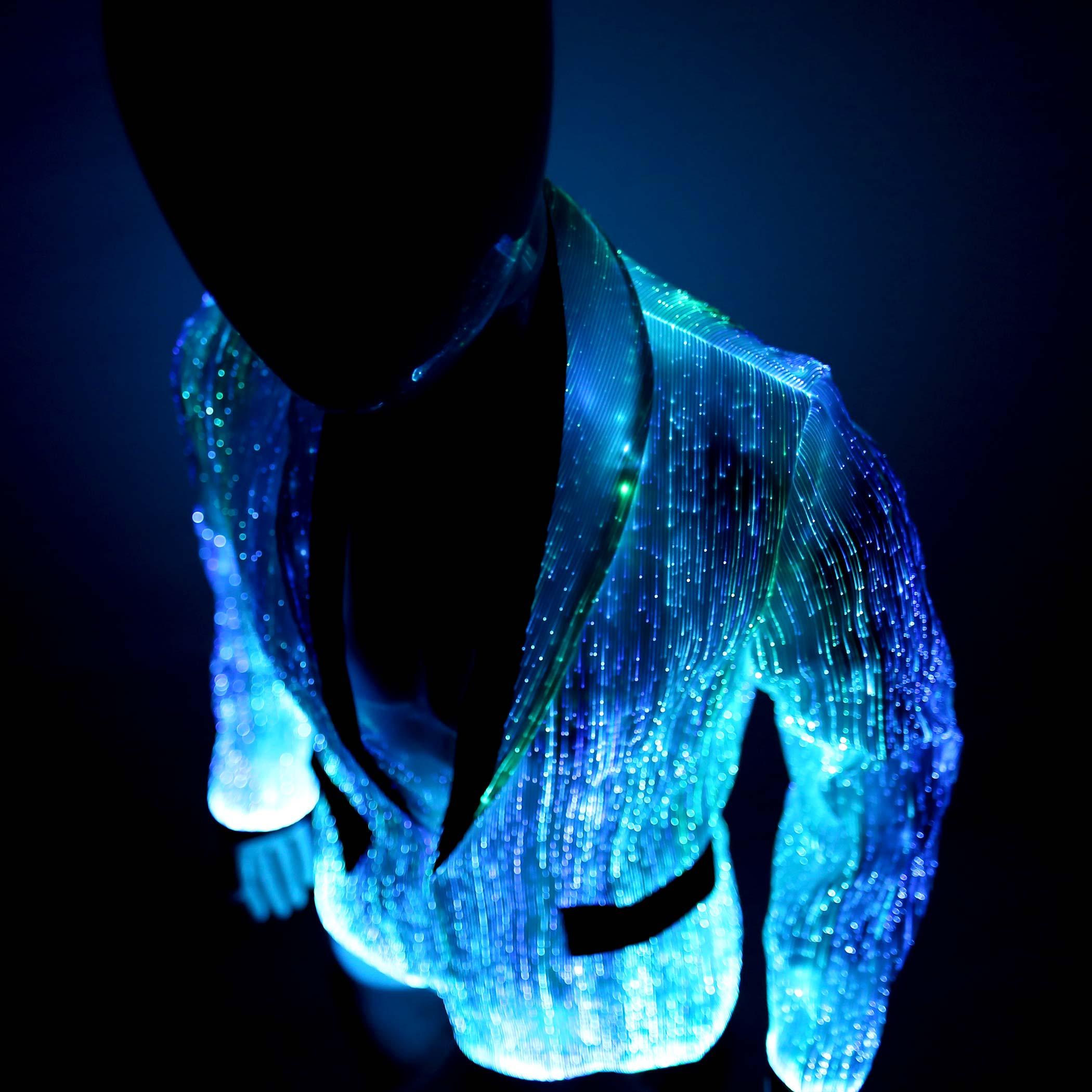 led jacket for men platinum glow in dark fiber optic jacket ymyw. Black Bedroom Furniture Sets. Home Design Ideas