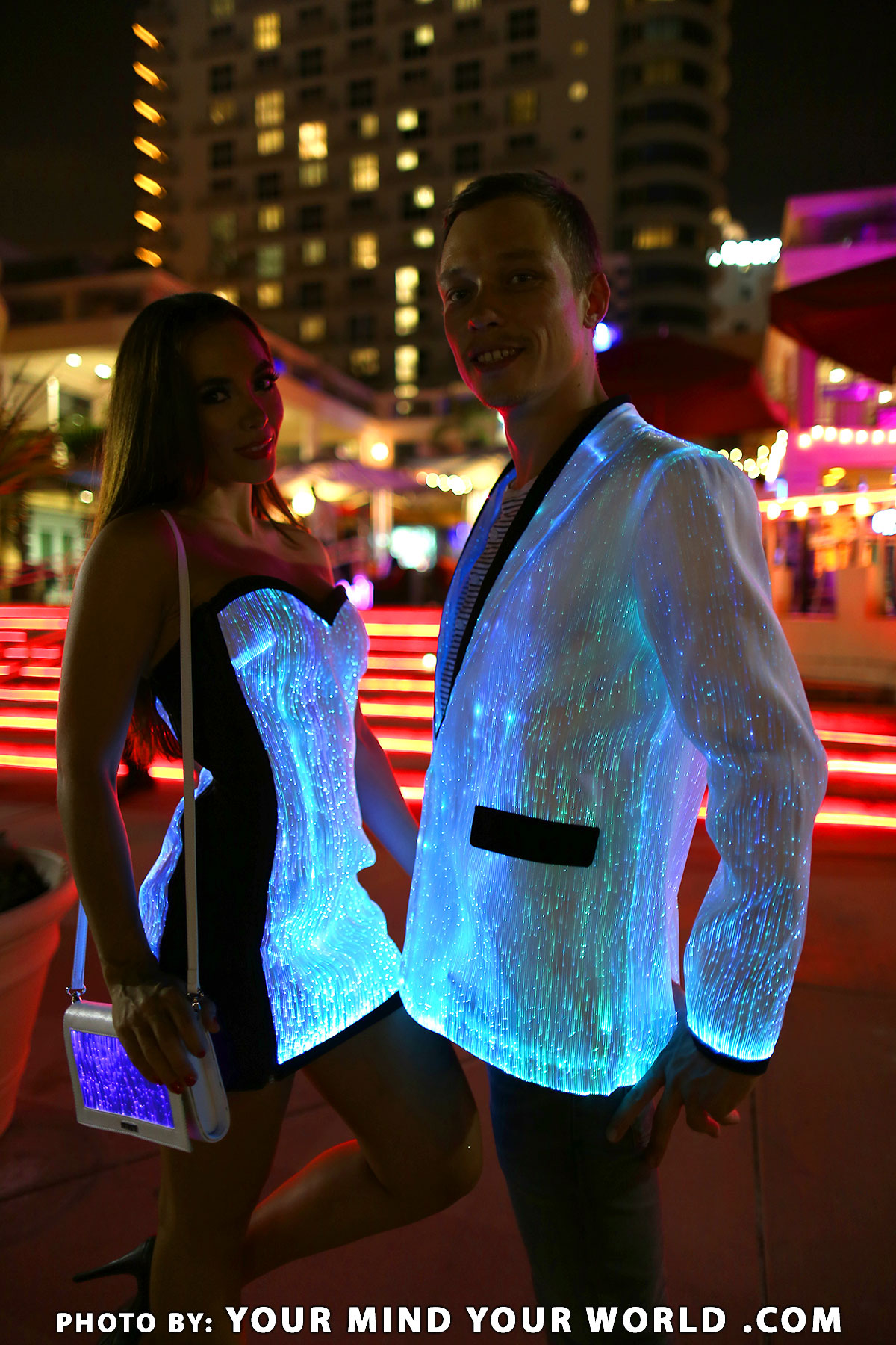women light up clothes glow in the dark dresses for sale