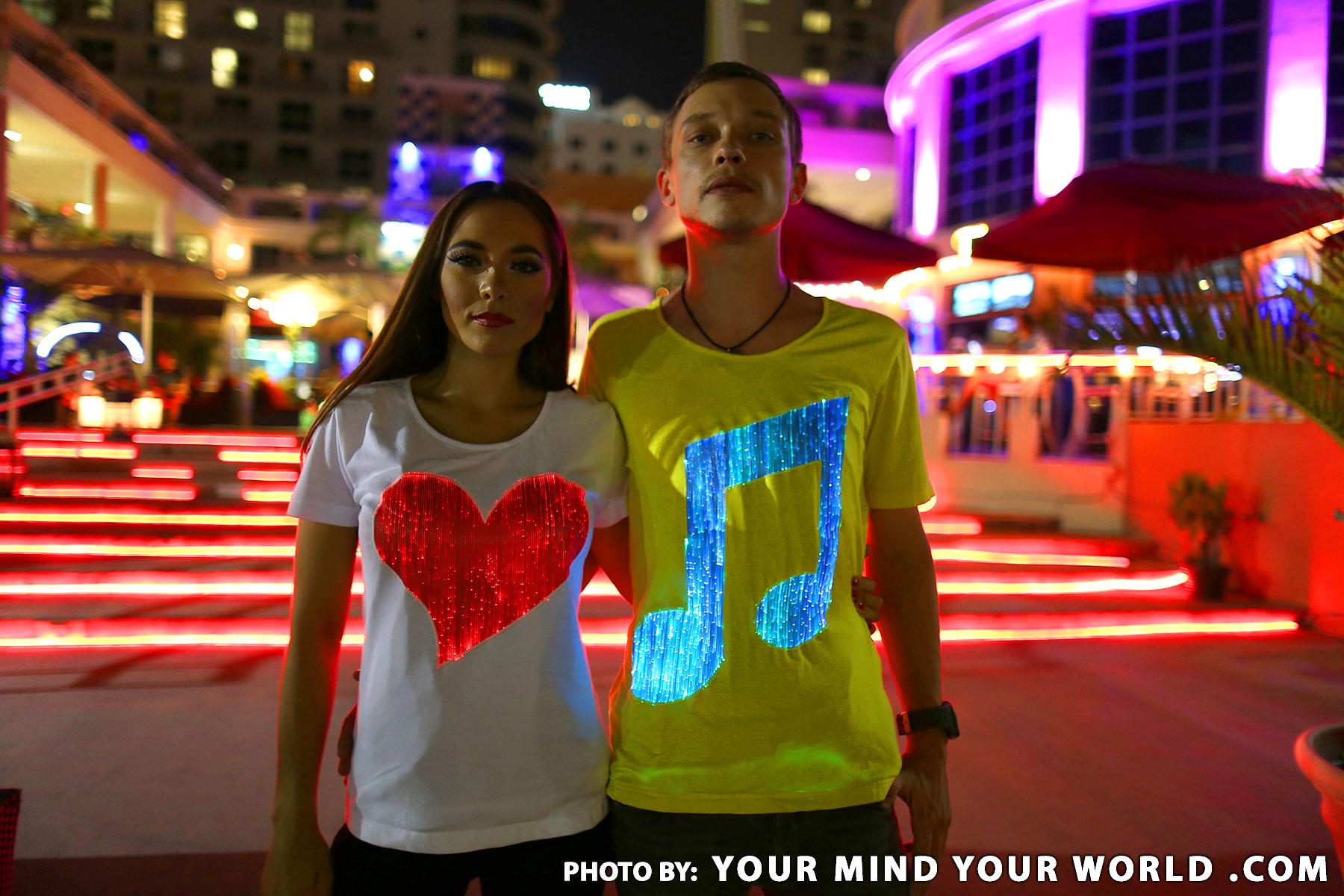 Mens light up edm music cool glow t shirt uu6KSZOP