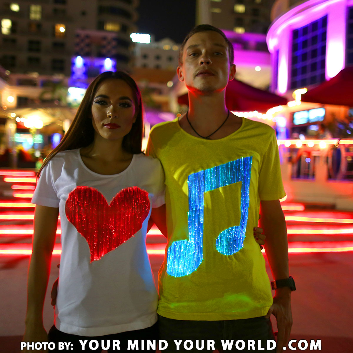 Fiber Optic Light Up And Glow In The Dark T Shirts For Sale
