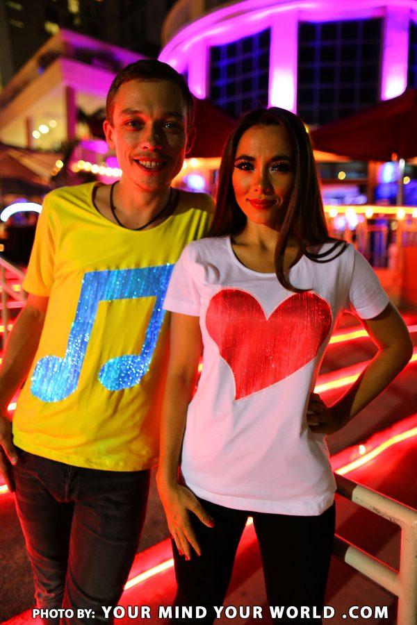 Party led clubwear