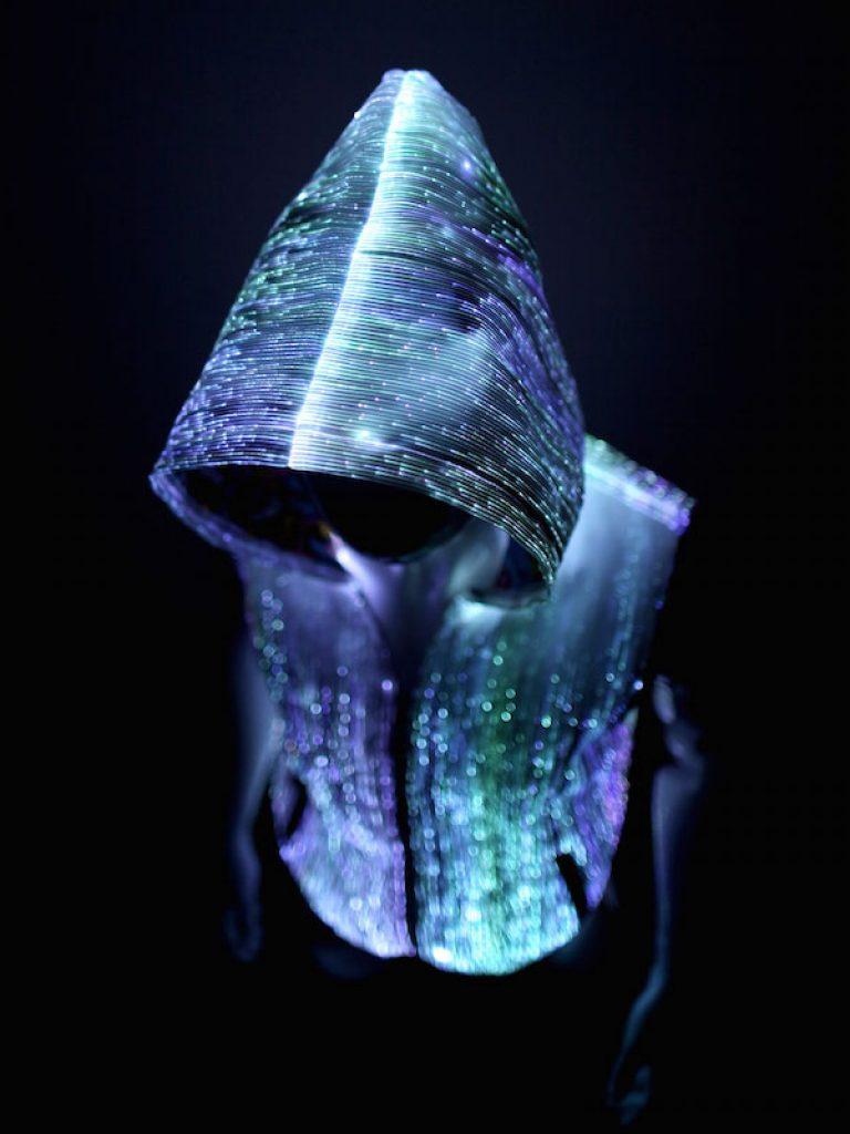 glow in dark LED Fiber Optic Hoodie