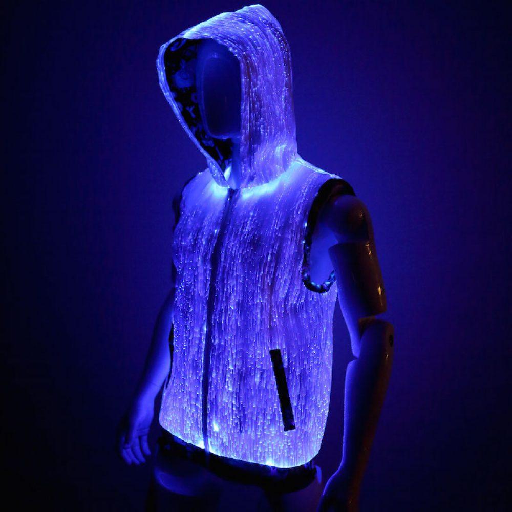 fiber optic hoodie