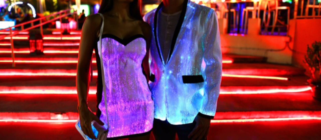 glowing jacket