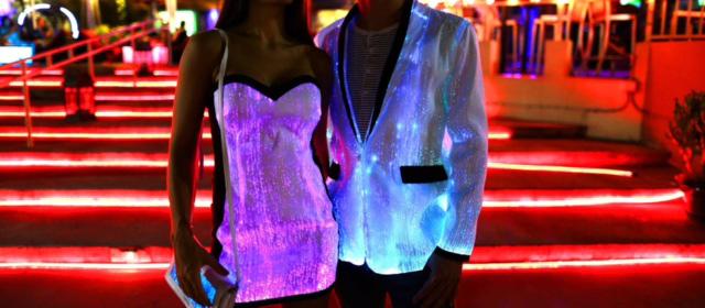 glowing jacket