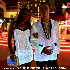 light up jacket and light up dress