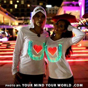light up couples sweatshirts