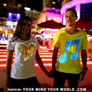 Fiber optic clothing - light up t shirts