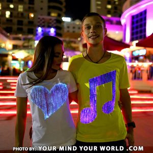 Led light up t shirts