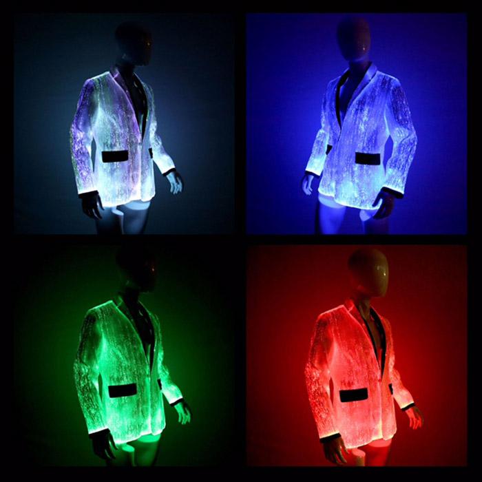 mens fiber optic jacket