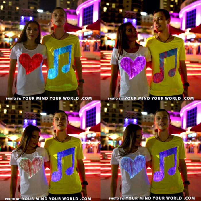 fiber optic t shirts