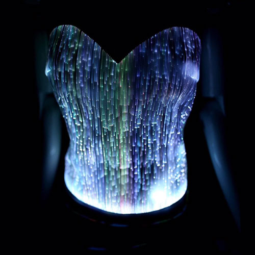 White Light up Corset