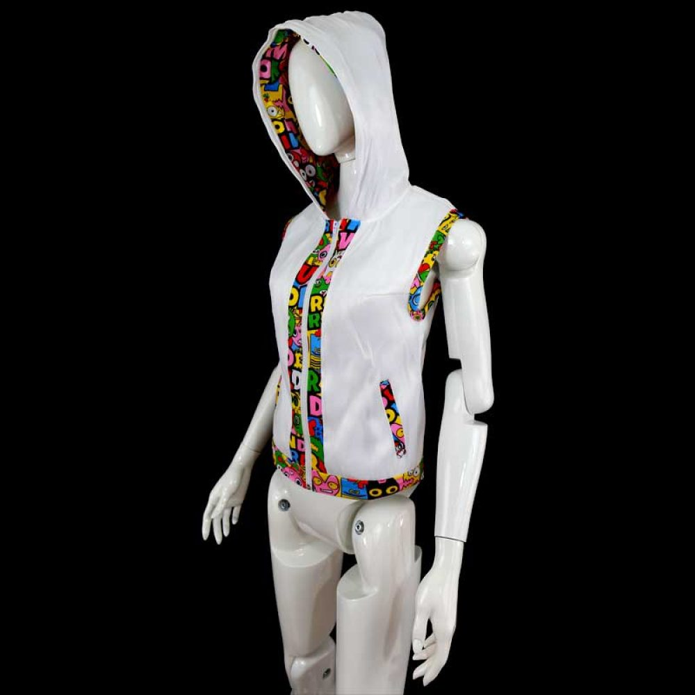 Light Up Hoodie Women White