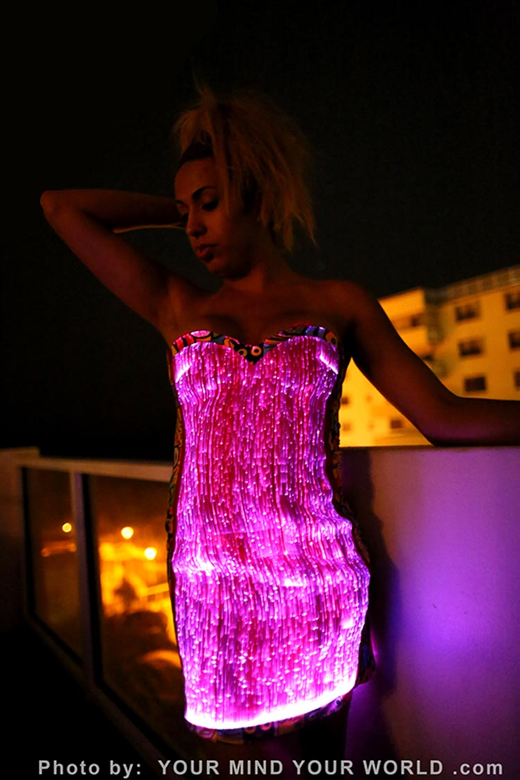 fiber optic sexy dresses