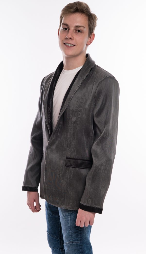 Black Panther Hight Density Fiber Optic Fabric Jacket