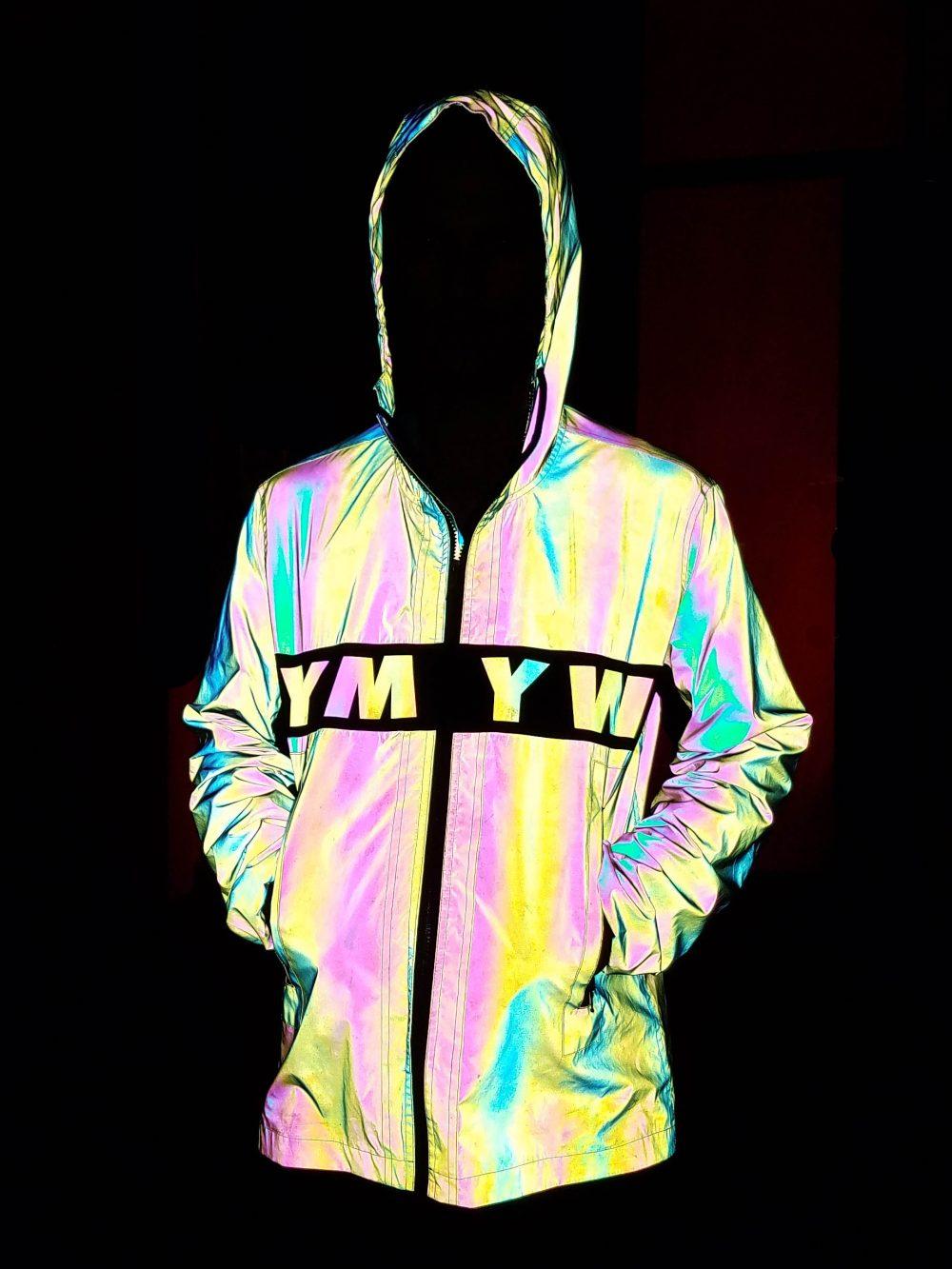 rainbow reflective adidas xeno jacket for men