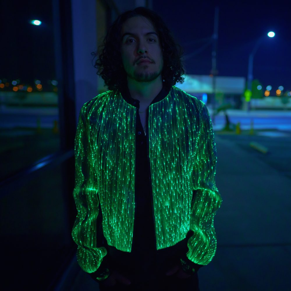 Mens Light Up Bomber Jacket