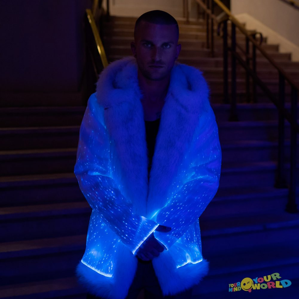 fiber optic fur jacket
