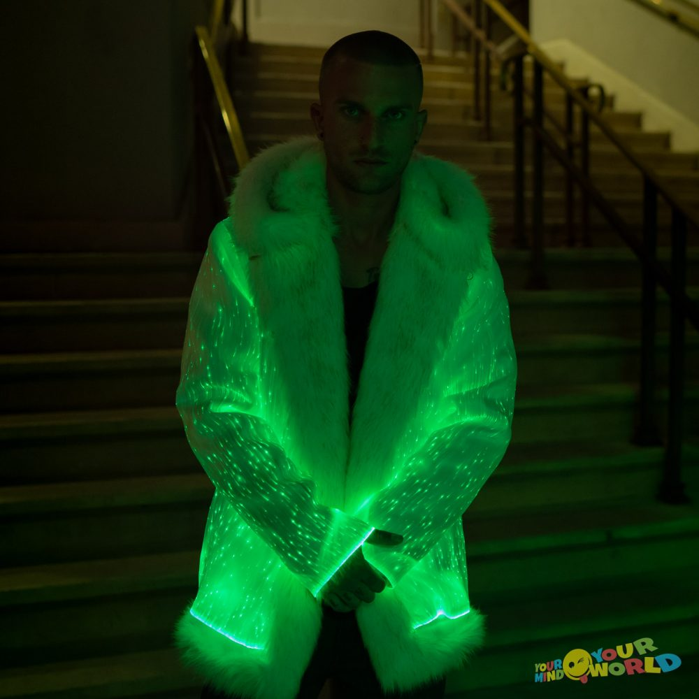 light up coat for men
