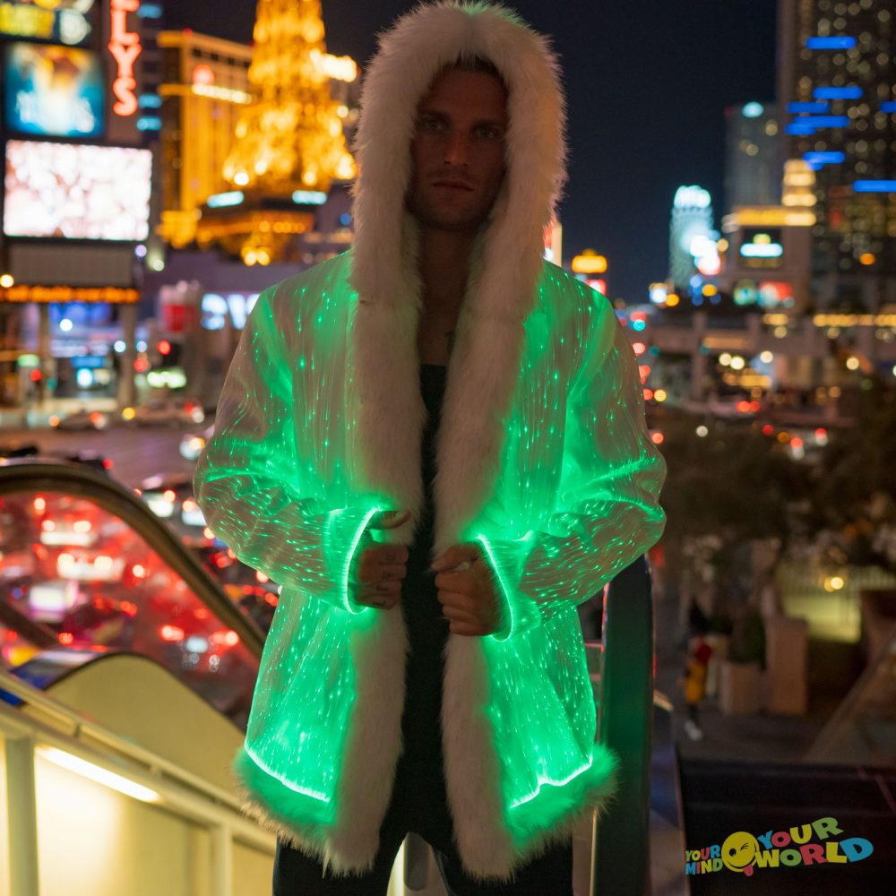 fiber optic fur coat