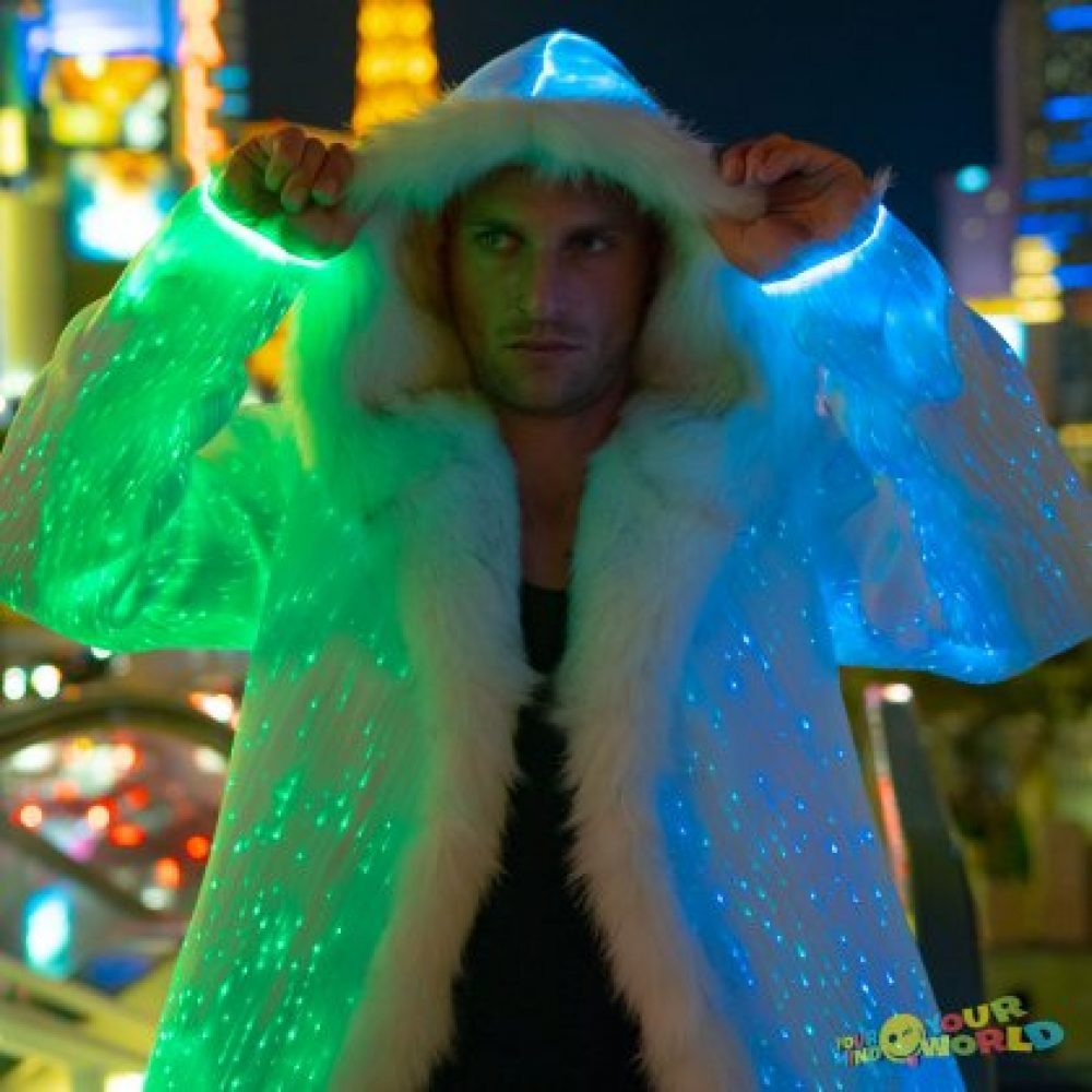 light up fur coat