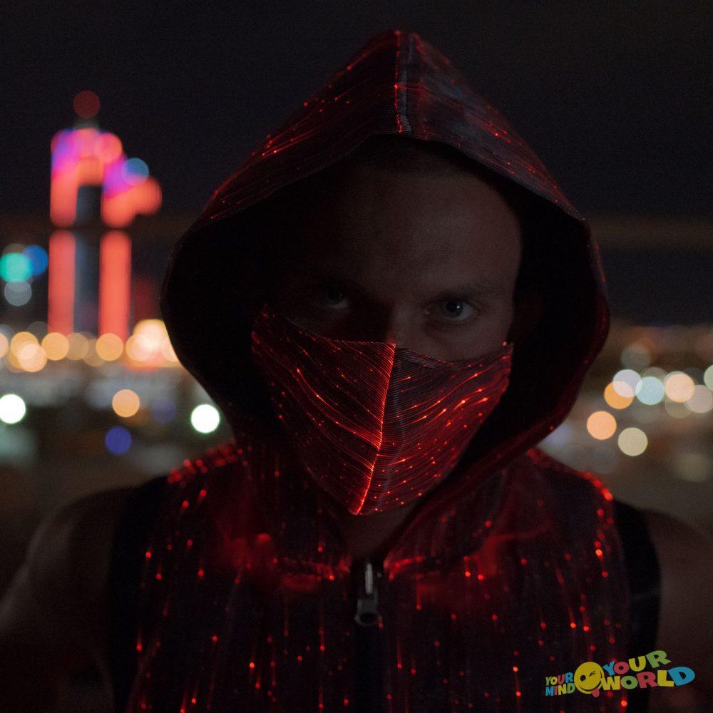black led rave mask