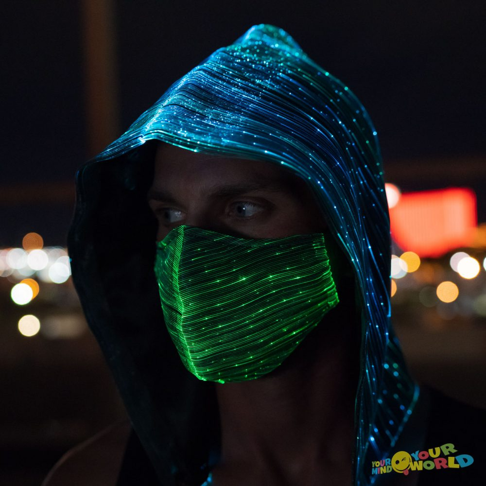 LIGHT UP HOOD AND LED MASK