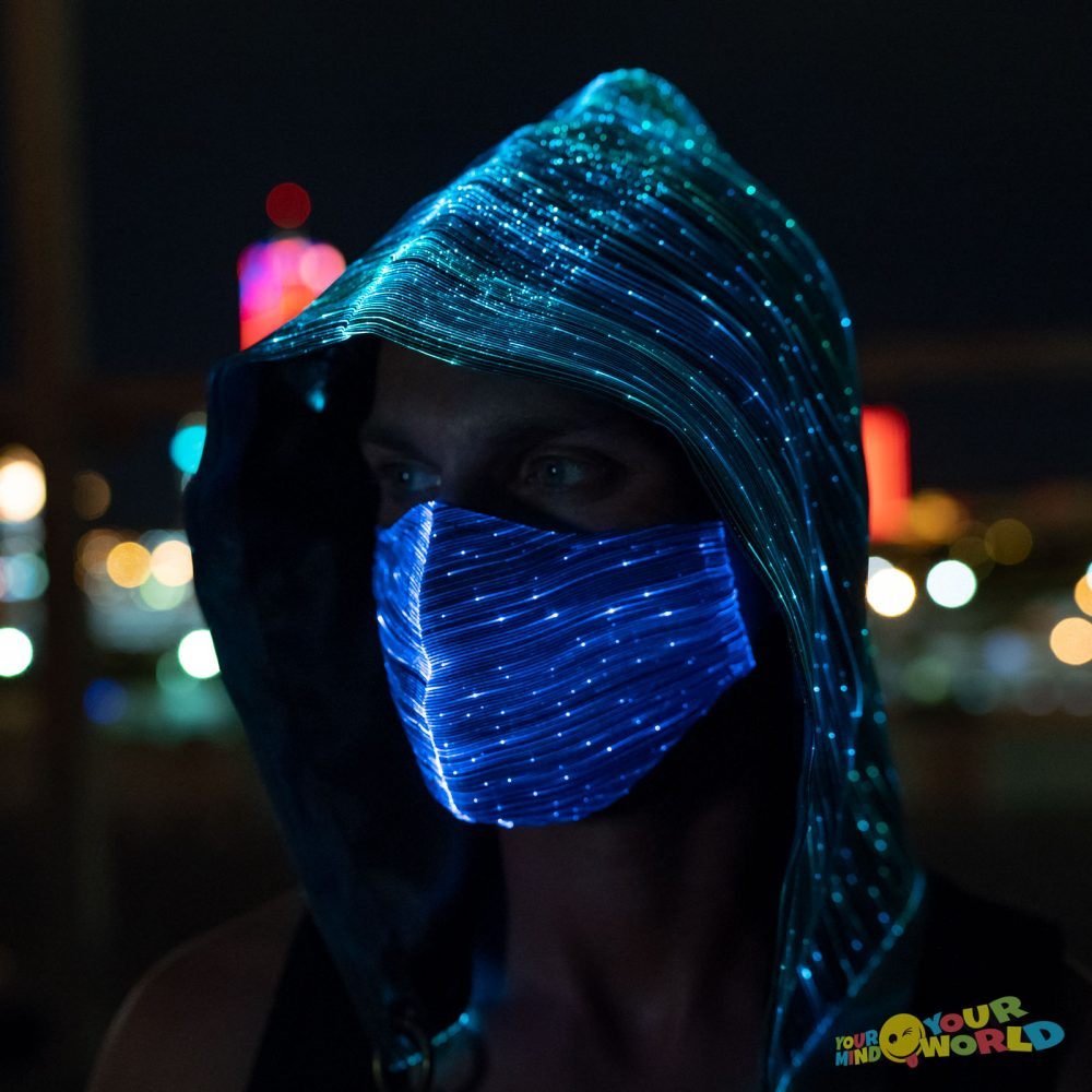 LED MASK AND LIGHT UP HOOD