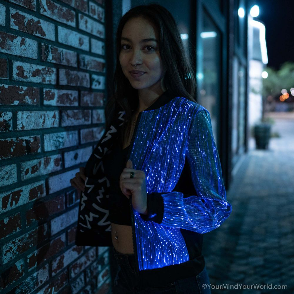 light up bomber jacket for girls