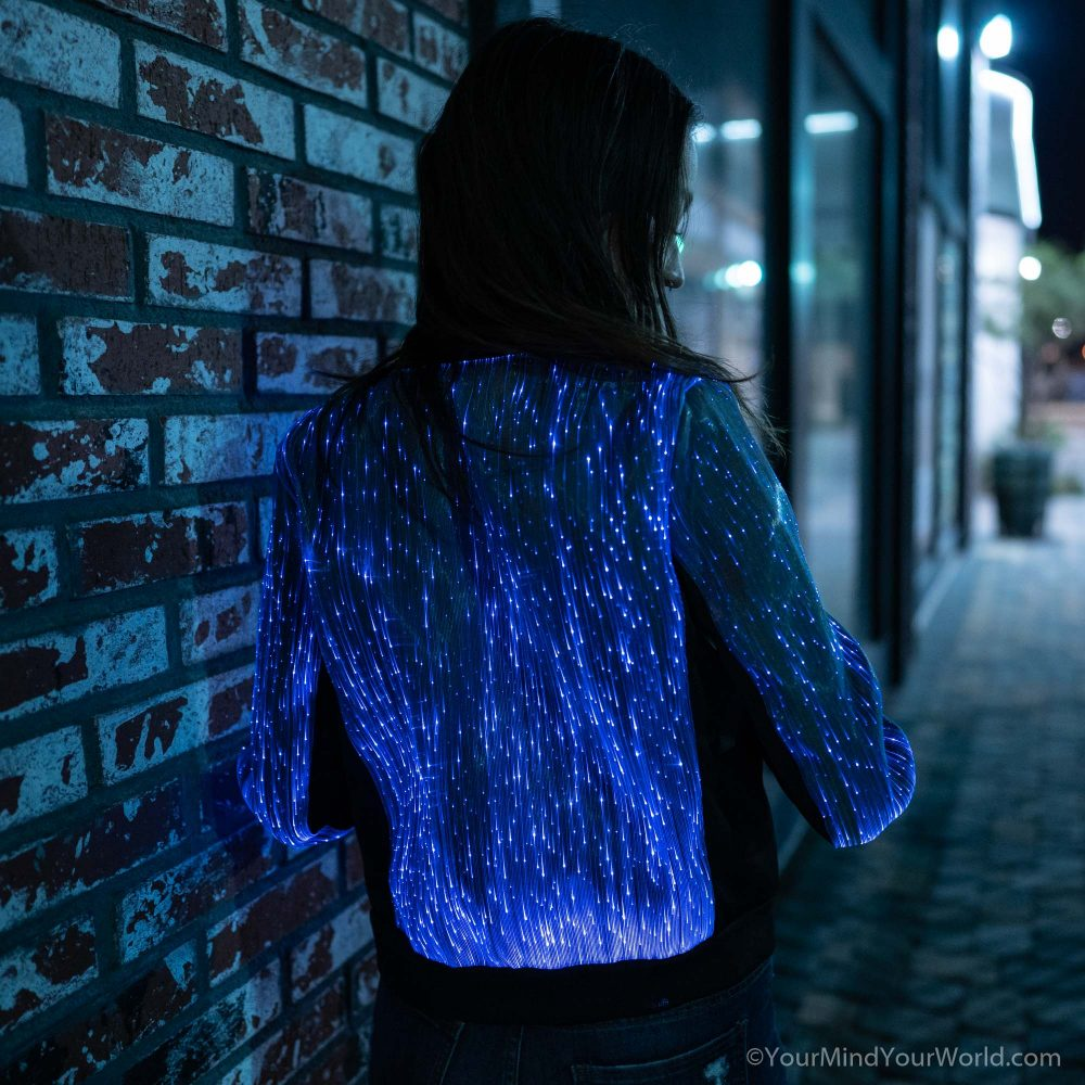 led bomber jacket for women