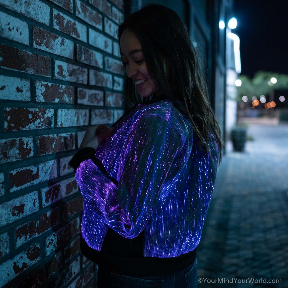 fiber optic light up jacket for girls