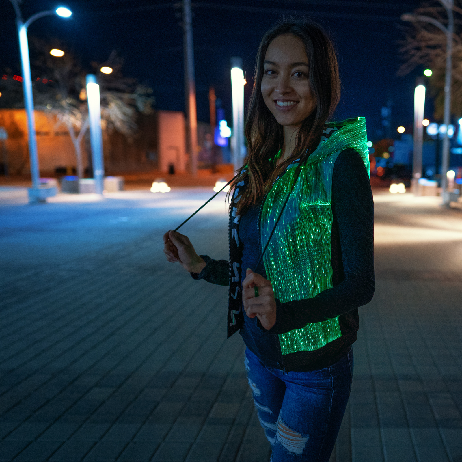 light up hoodie for women