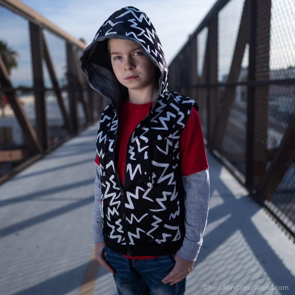 messy mind hoodie for kids and teens black