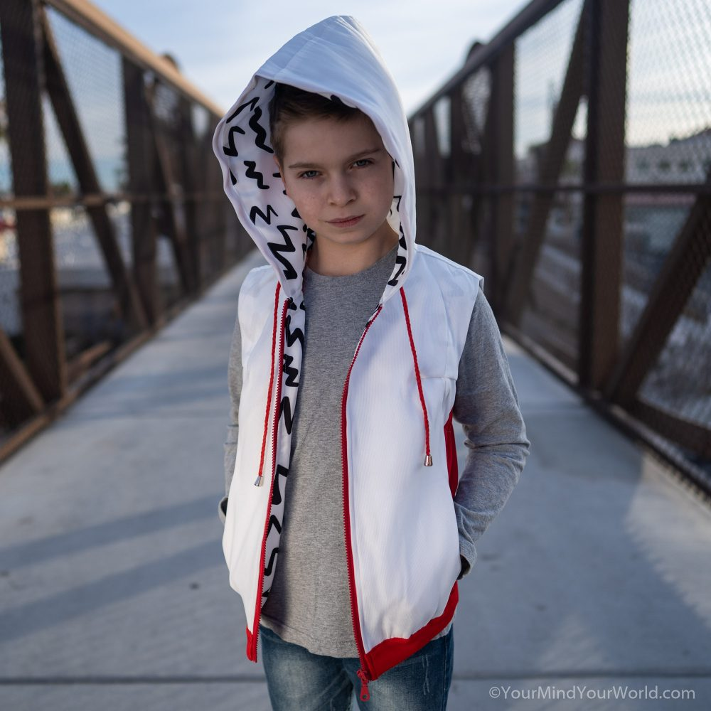 messy mind hoodie for kids and teens red