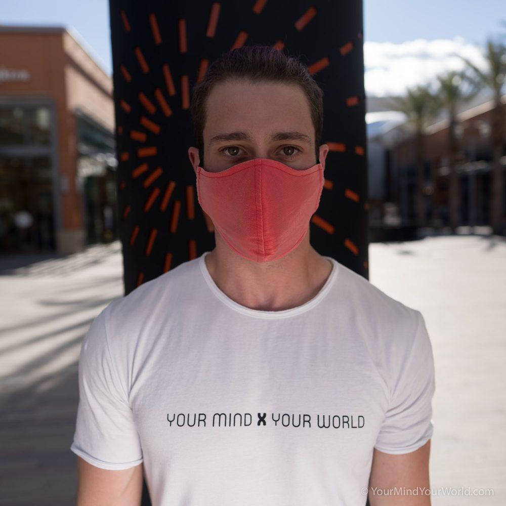 red face mask for men