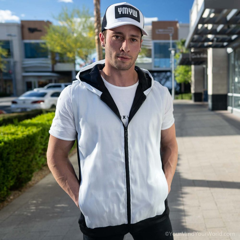 hoodie for men in white color