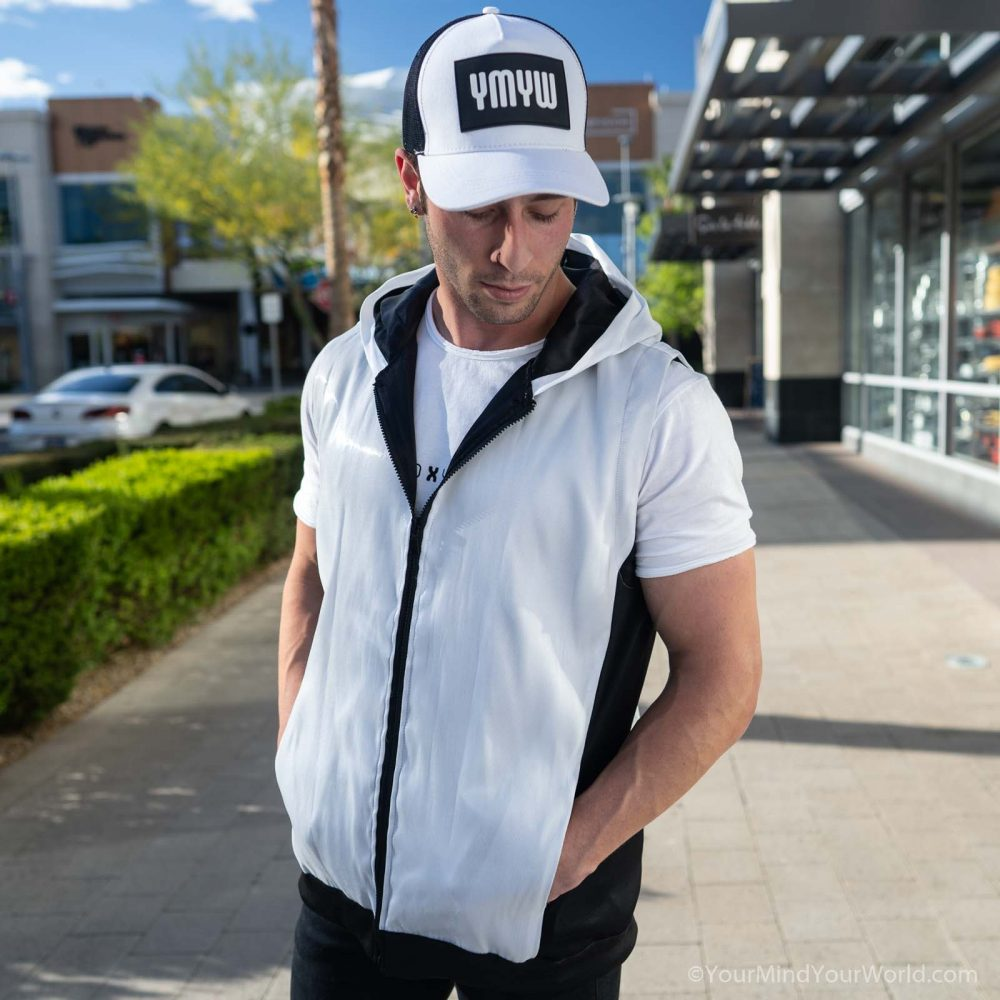 white hoodie for men
