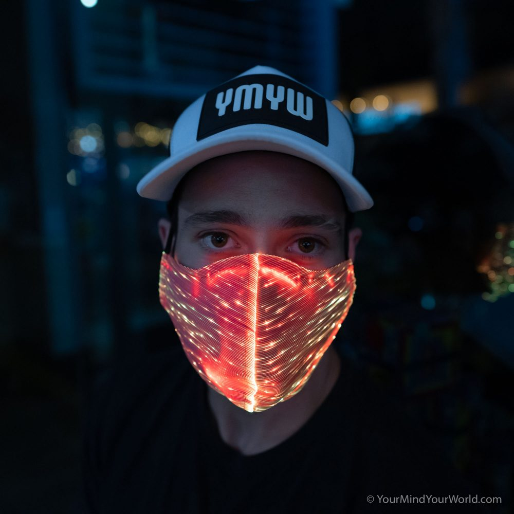 light up face mask for men