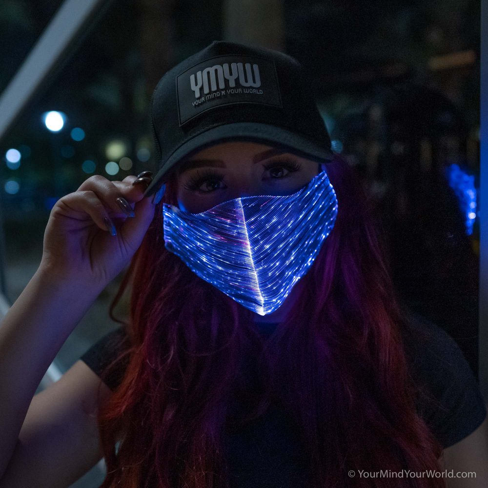 fiber optic light up purge mask