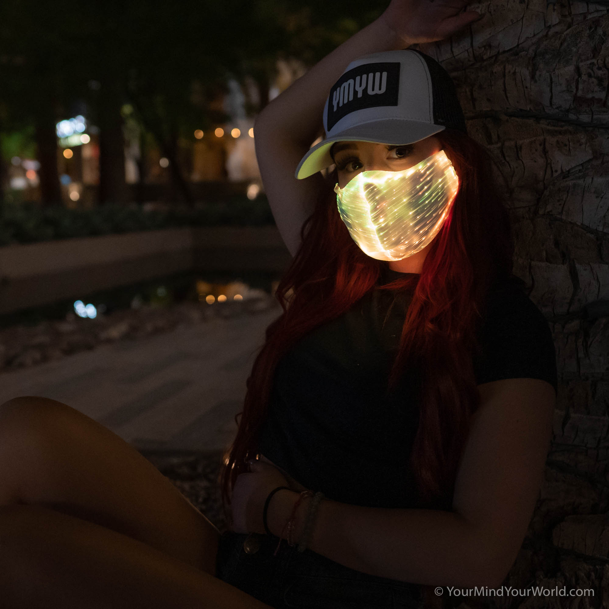 led rave mask for girls