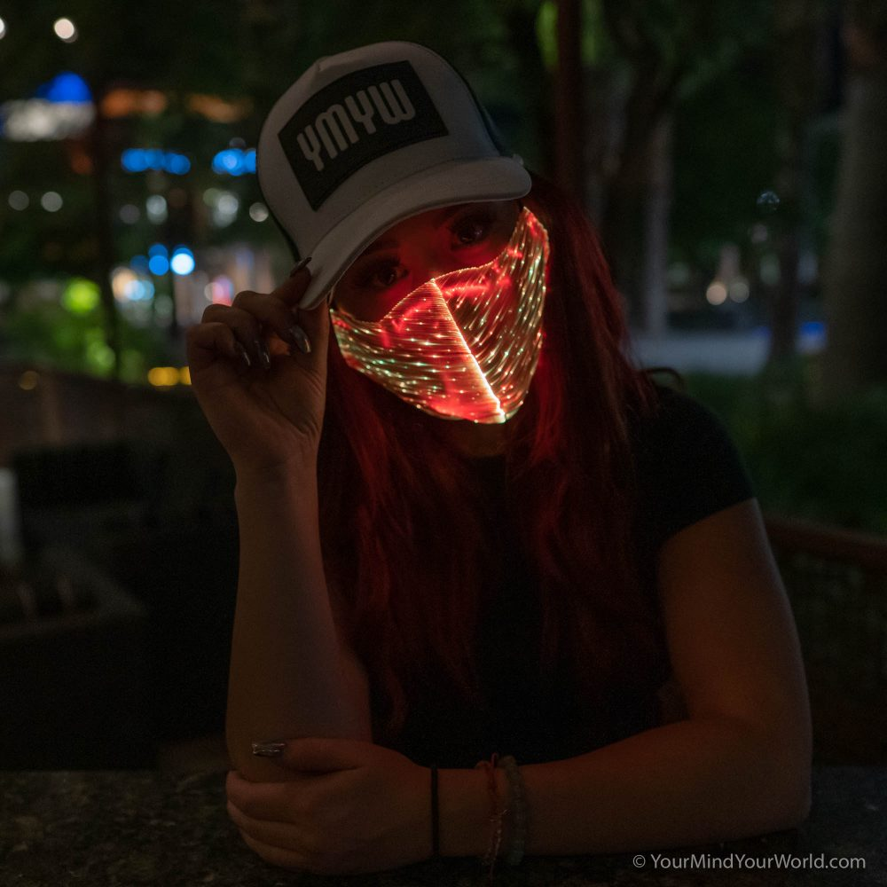 led rave mask for women