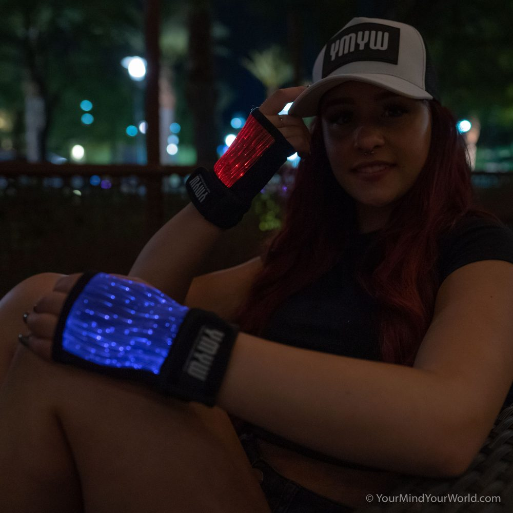 cool led rave gloves