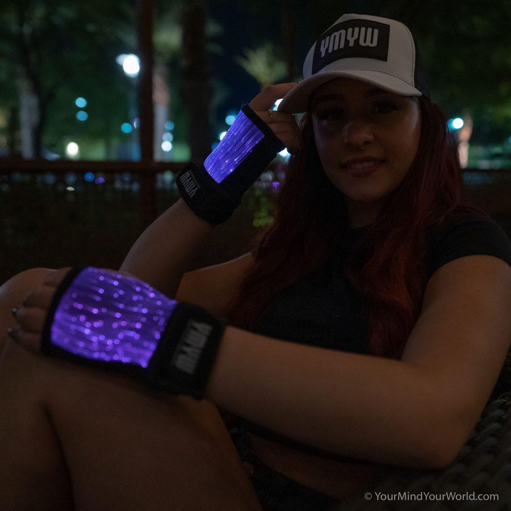 cool led rave gloves for girls