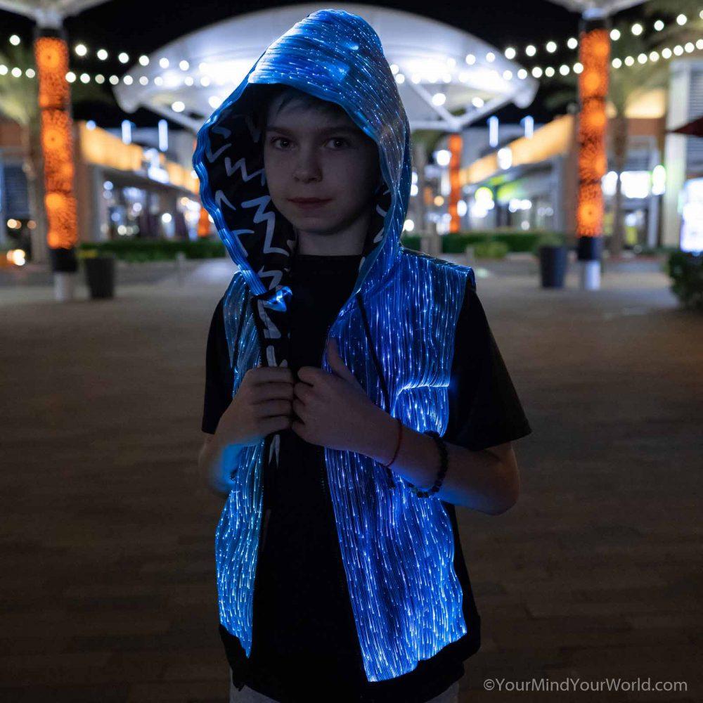 led hoodie for teens