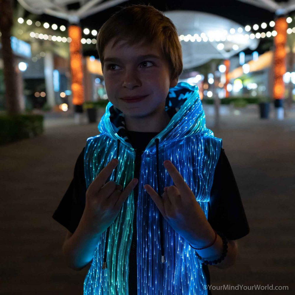 led hoodie for kids