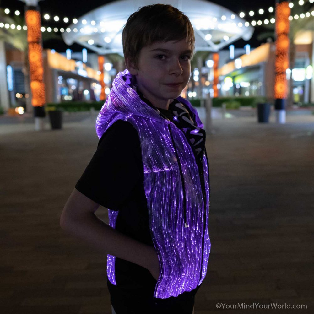 led hoodie for kids and teens