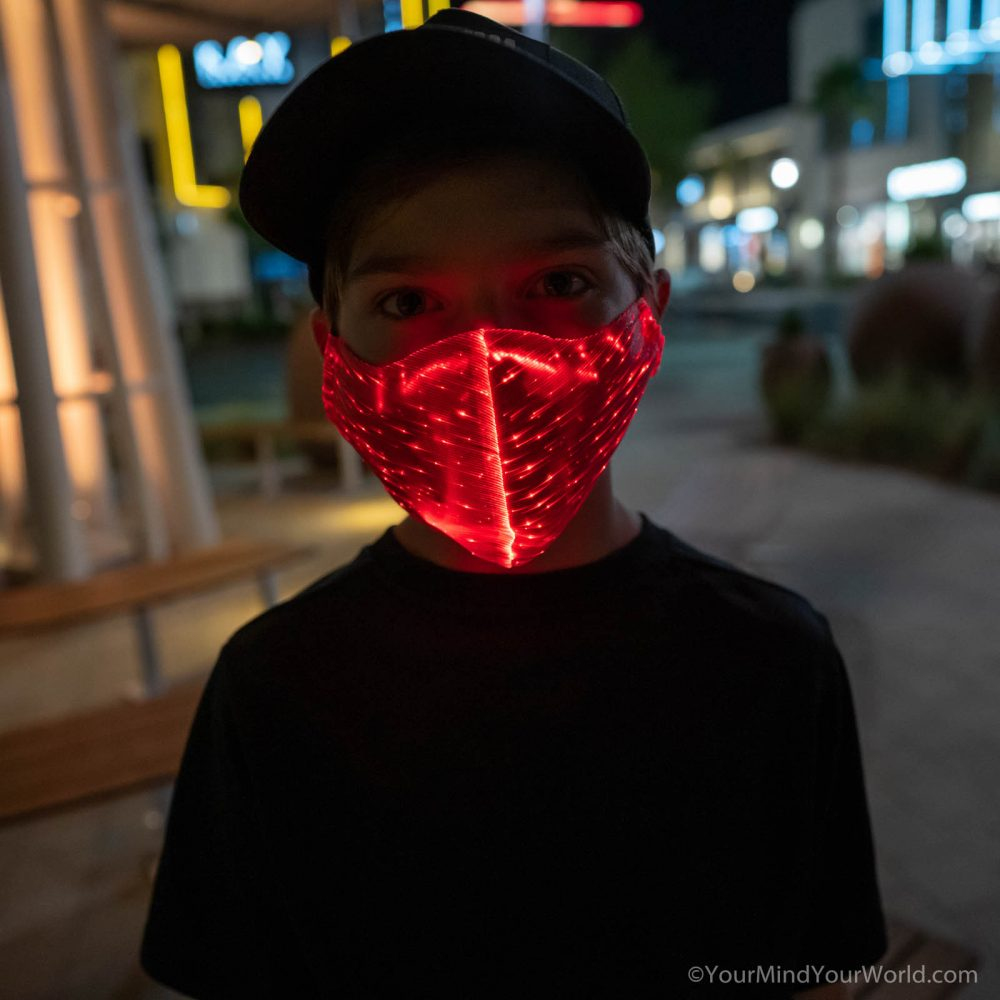 led face mask for teens
