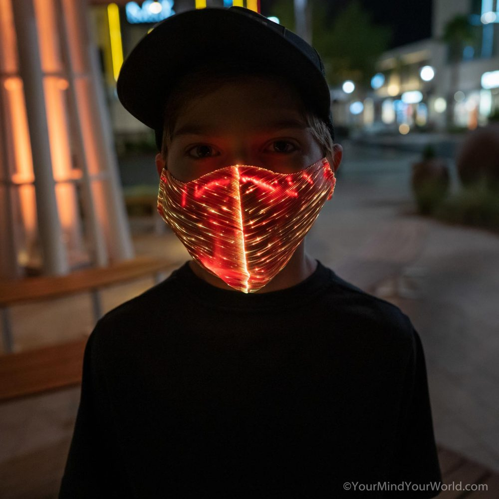 cool led face mask for teens and kids
