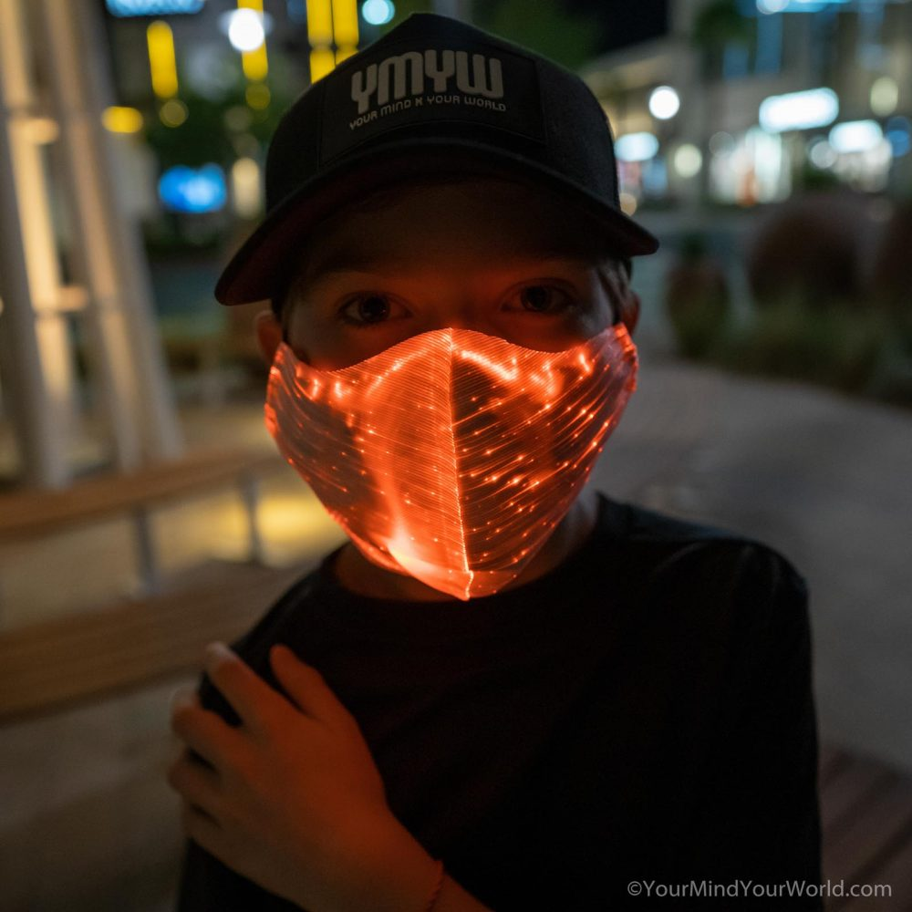 fiber optic mask for kids and teens