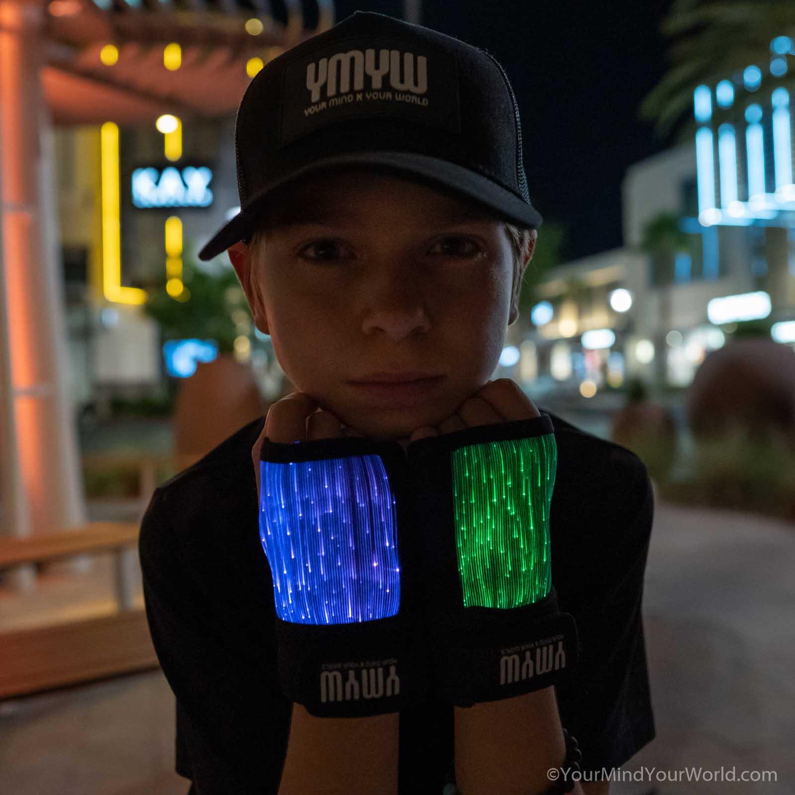 led gloves finger lights for kids